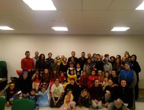 Cena delle Famiglia a Celleno, con i bambini della Catechesi