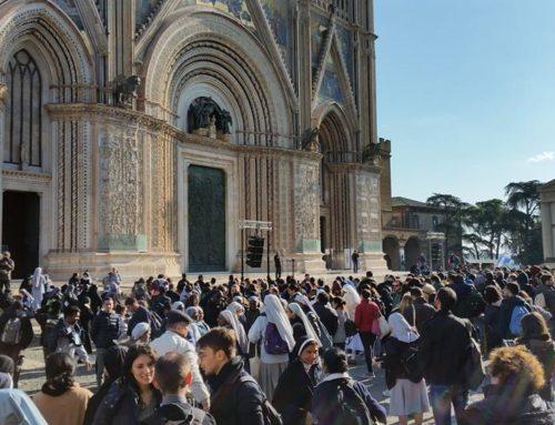 Visita degli studenti Universitari di Roma al Duomo di Orvieto