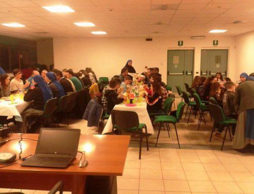 """Comunità """"Santa Lucia Filippini"""", Celleno. Cena con le famiglie del catechismo"""