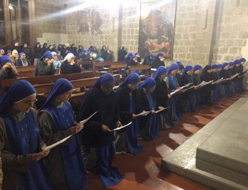 Monastero de Tuscania (VT): Ingresso di 18 suore alla Vita Contemplativa