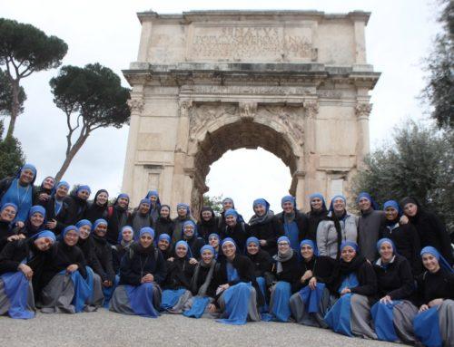 Pellegrinaggio delle  suore dello Studentato di Bagnoregio