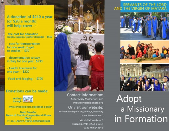 Adopt a Missionary in formation